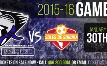 Sonora de Soles at Dallas Sidekicks Jan 30th, 2016 7:05 pm