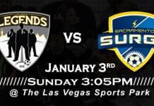 MASL West Div: Sacramento at Las Vegas Legends Jan 3rd, 2016, 3:05pm