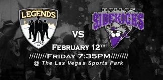 MASL West Div: Dallas Sidekicks at Las Vegas Legends Feb 11th, 2016, 7:05pm