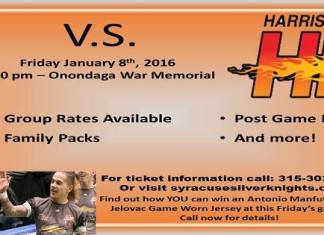MASL Eastern Div: Harrisburg Heat at Syracuse Silver Knights Jan 8th,2016