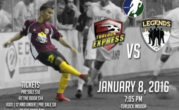Las Vegas Legends at Turlock Express Jan 8th 7:05pm PT