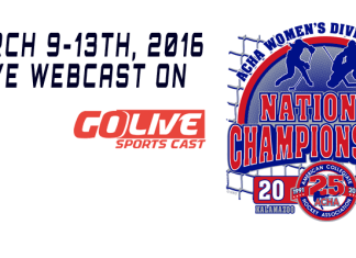 ACHA 2016 Women's D1 Hockey tournament Nationals March 9-13th 2016