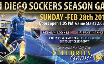 MASL WEST: Dallas Sidekicks at San Diego Sockers Feb 28th 2:05pm PT