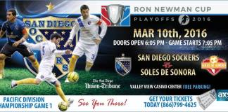 PLAYOFFS: Sonora at San Diego Sockers Mar 10th 7:05pm PT watch live video