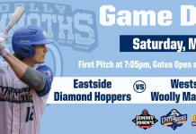 USPBL Westside Woolly Mammoths vs Eastside Diamond Hoppers on 5/18/2019
