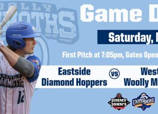 USPBL Westside Woolly Mammoths vs Eastside Diamond Hoppers on 5/18/2019