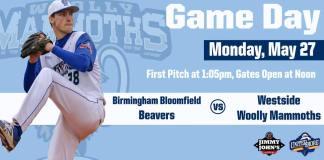 Westside Woolly Mammoths vs Birmingham Bloomfield Beavers on 5/27/2019