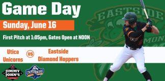 Eastside Diamond Hoppers vs Utica Unicorns on 6/16/2019