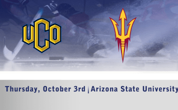 UCO Men's D1 hockey vs Arizona State October 3rd 7:30pm CT