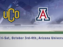UCO Men's D1 hockey vs Arizona University October 4th-5th 7:30pm CT