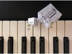 """""""Cubic Music 4"""", Original artwork, mixed media, piano, organ, © Golnaran"""