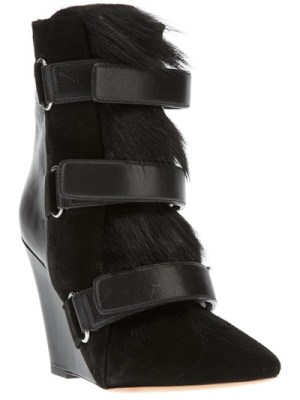 Calf hair Wedge boots