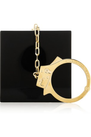Handcuff Perspex clutch
