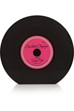 Record Perspex clutch