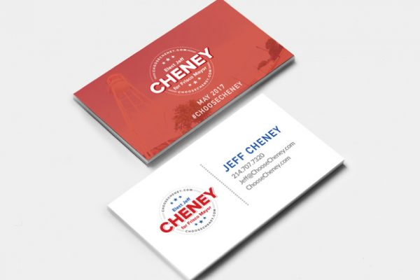 Elect Jeff Cheney business cards