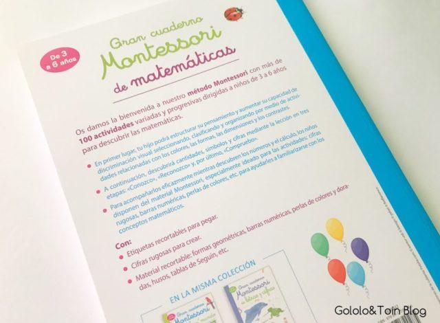 Cuaderno Montessori de Matemáticas