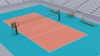 مساحة ملعب كرة الطائرة القانوني وعدد اللاعبين