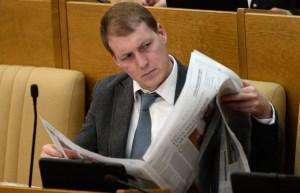 Депутат Роберт Шлегель на пленарном заседании Государственной Думы