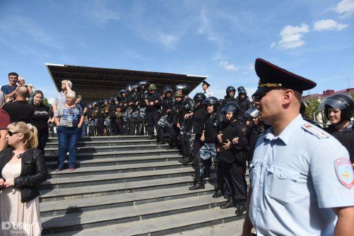 Протестная акция против пенсионной реформы в Краснодаре © Фото Елены Синеок, Юга.ру