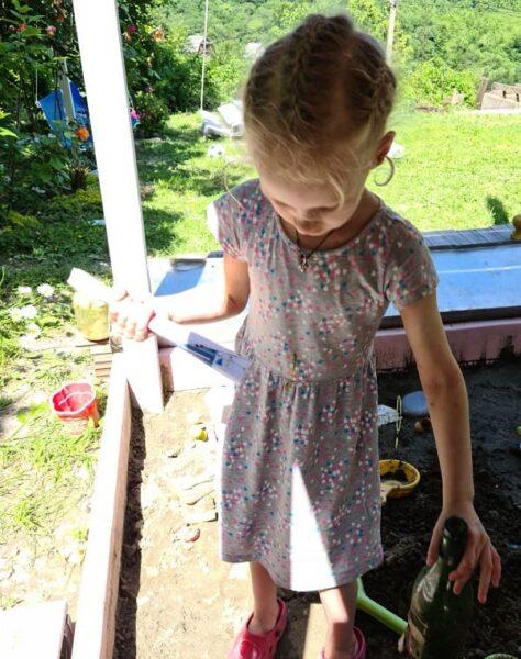 квест во дворе на даче