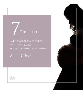 7 tips to take maternity photos at home