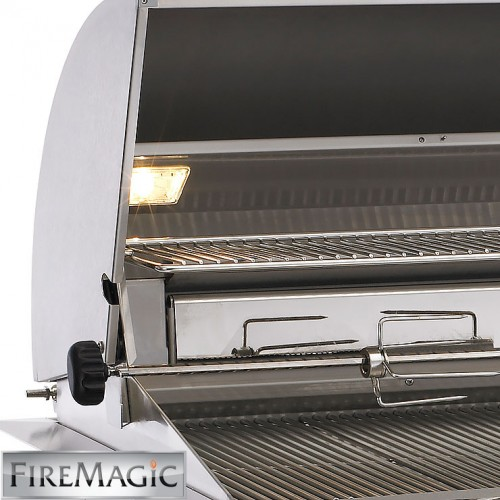 magic kitchen grill buy cabinets fire aurora a530i built in with rotisserie kit 6e1n