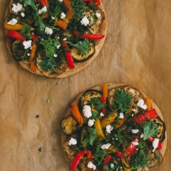 Sprouted Kitchen Book Long Narrow Table Roasted Eggplant And Pepper Pizza On A Buckwheat Crust ...