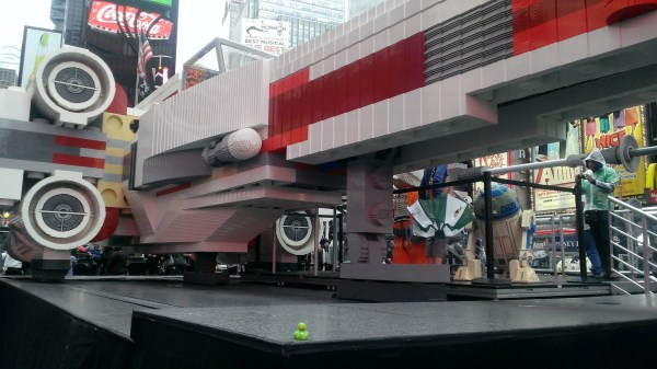 Lego X Wing Promote Yoda Chronicles In Times Square