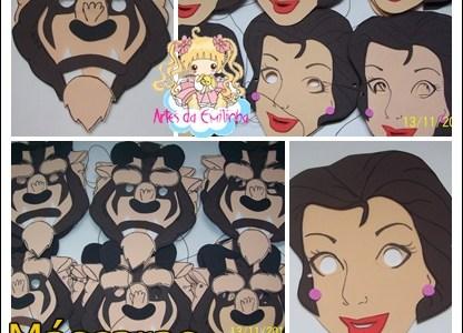 Mascaras de La Bella y La Bestia