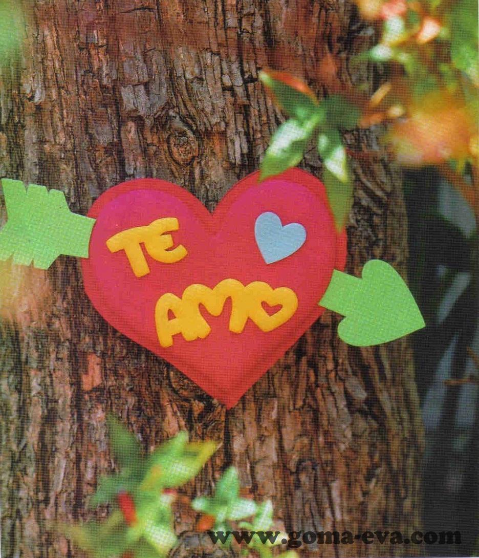 Corazon TE AMO de San Valentin - Manualidades en Goma Eva y Foami