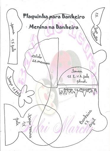 Cartelitos para el bao  Manualidades en Goma Eva y Foami