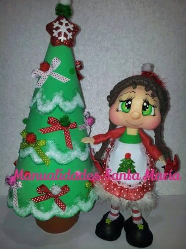fofucha de navidad con moldes