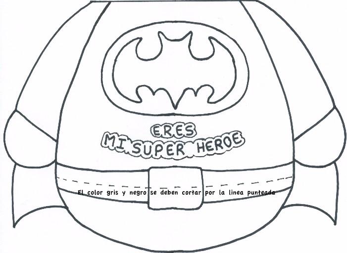 Libreta de superhéroe de goma eva para el día del padre