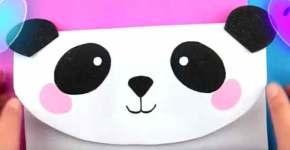Cartuchera de oso panda en goma eva