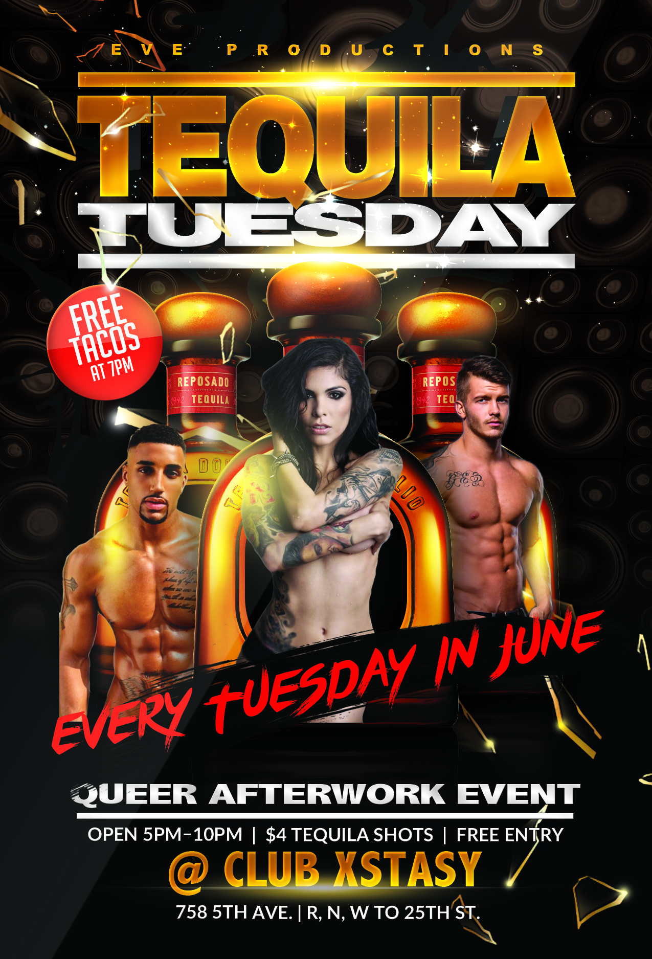 Tequila Tuesday Party Flyer Template