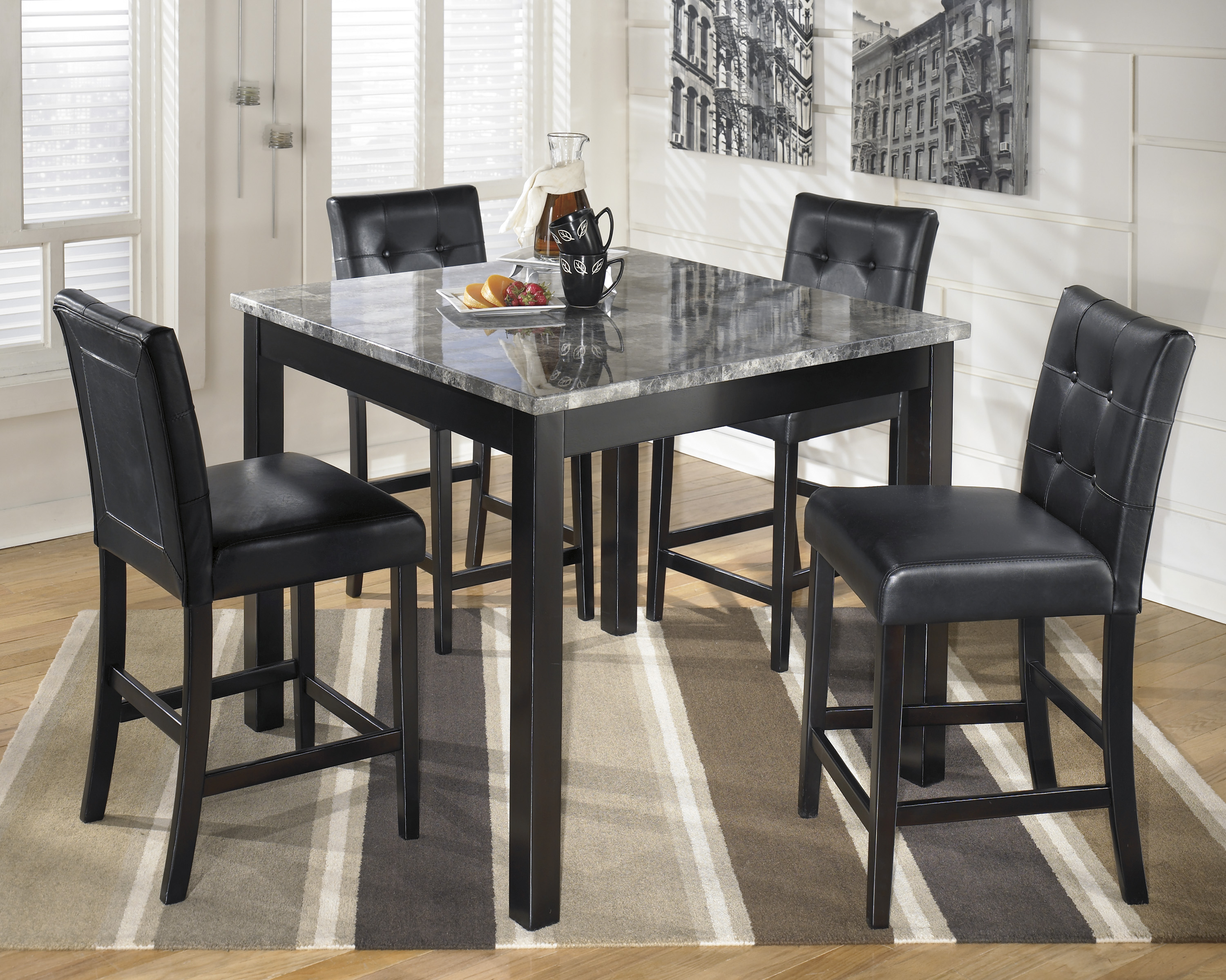 Black Dining Room Table And Chairs Majik Dining Room Furniture Rental In Pennsylvania Rent To Own