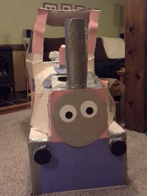 1 Year Old Cardboard Train