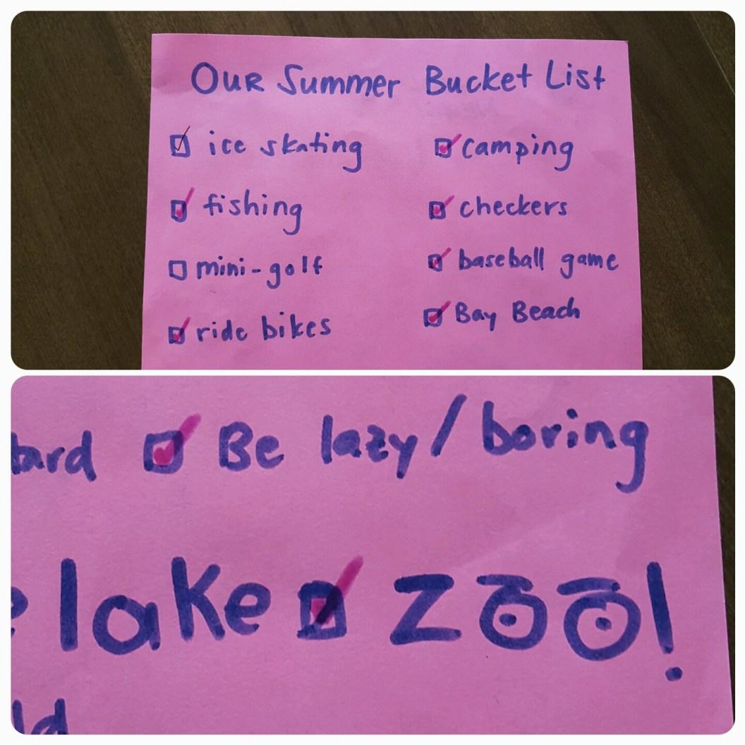 Mama O.'s summer bucket list