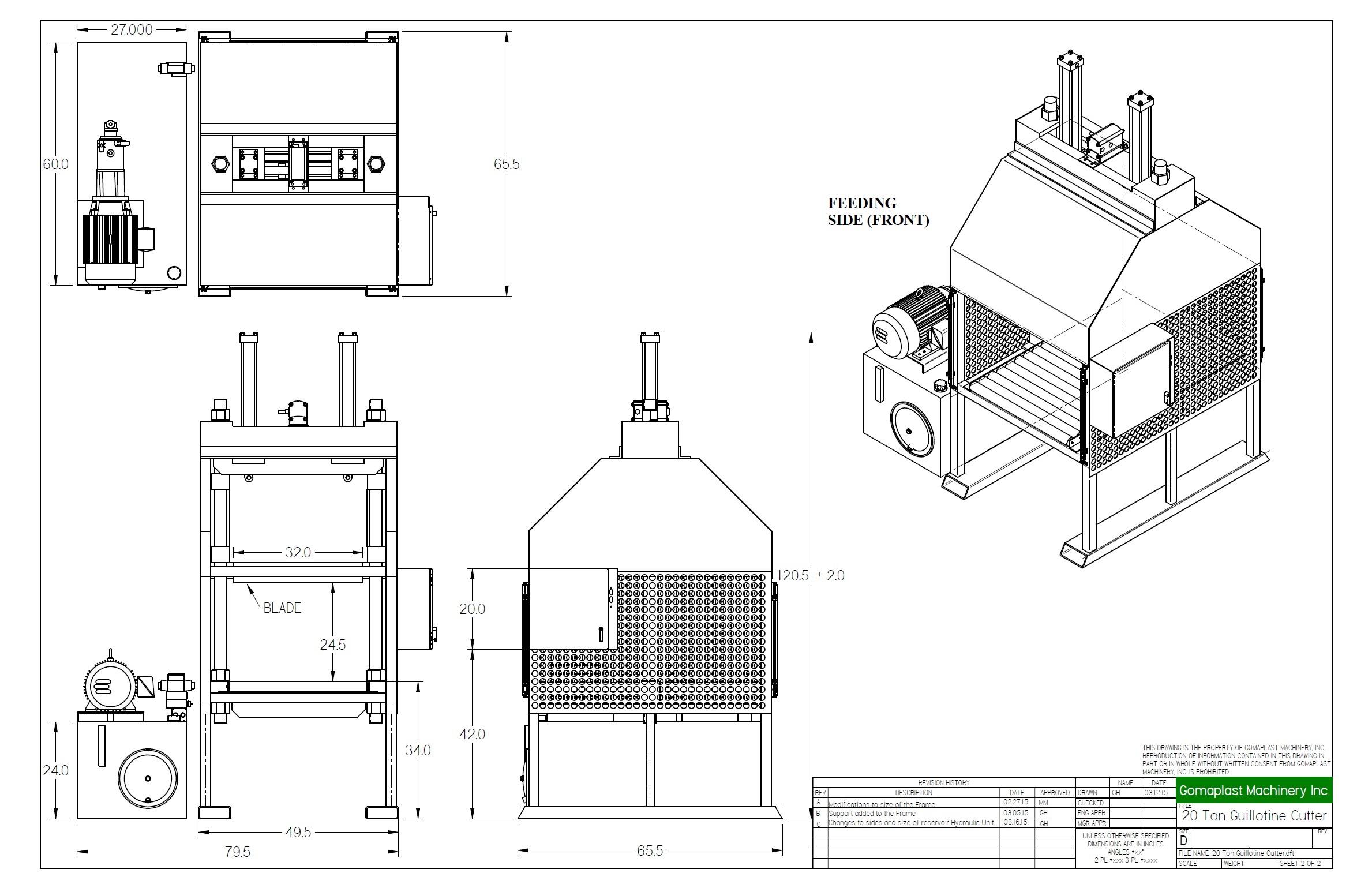 design spare parts complete machine manufacturing line