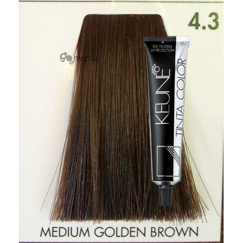 Keune Tinta Color Medium Golden Brown 43 Hair Color