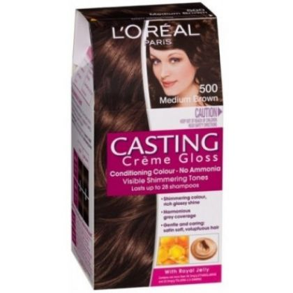 loreal paris casting creme gloss 500 medium brown hair color dye gomart