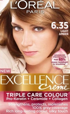 Loreal Excellence Creme 635 Light Amber Hair Color
