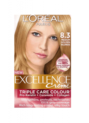 Loreal Excellence Creme 83 Medium Golden Blonde Hair