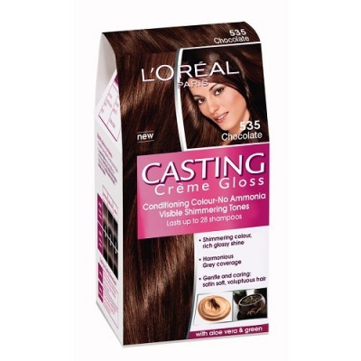 loreal paris casting creme gloss 535 chocolate hair color dye gomart