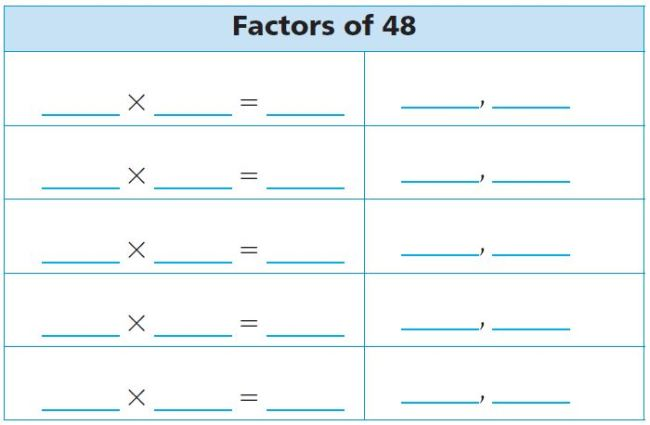 Go Math Grade 4 Answer Key Chapter 5 Factors, Multiples, and Patterns Review/Test img 27
