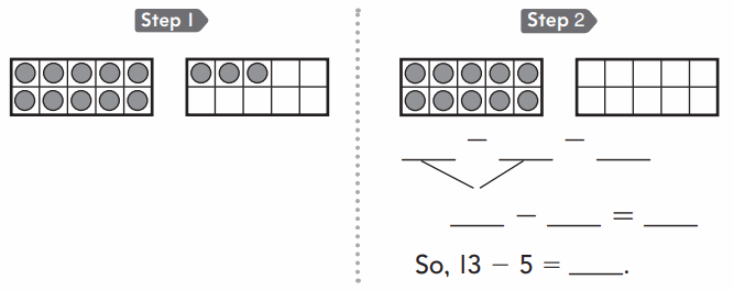 Go Math 1st Grade Answer Key Chapter 4 Subtraction Strategies 108