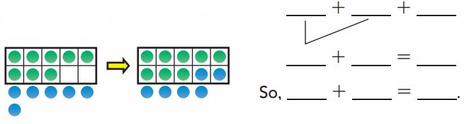 Go Math Answer Key Grade 1 Chapter 3 Addition Strategies 208