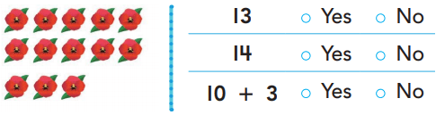 Go Math Grade K Chapter 7 Answer Key Pdf Represent, Count, and Write 11 to 19 rt 4
