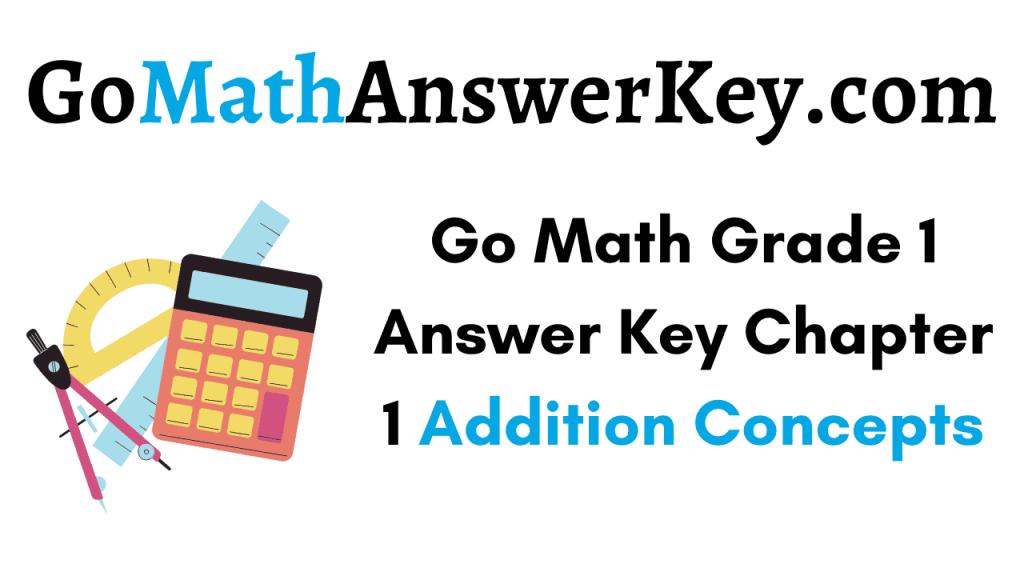 Go Math Grade 1 Answer Key Chapter 1
