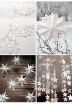 hópelyhes papírdíszek
